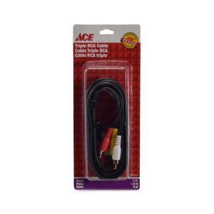 ACE KABEL RCA TRIPLE 6 FT