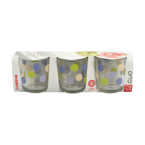 SET 3 PCS GELAS TUMBLER CLIO PICCADILLY VIOLA 280 ML