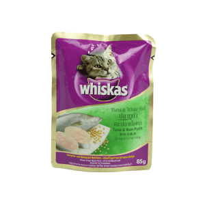 WHISKAS POUCH TUNA & WHITE FISH 85 GR