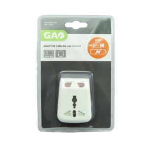 GAO TRAVEL ADAPTOR DENGAN CHARGER USB