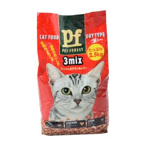 PET FOREST CAT FOOD 3 MIX 2.5 KG