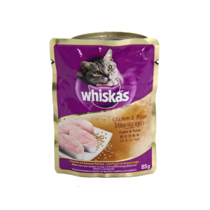 WHISKAS POUCH CHICKEN TUNA 85 GR