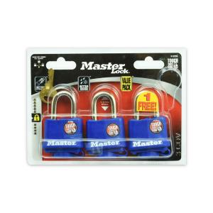 MASTER LOCK GEMBOK BESI DENGAN COVER TERMOPLASTIK 3 PCS