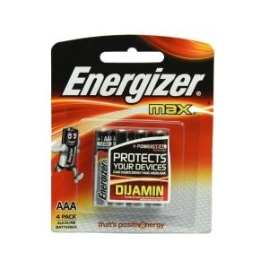 ENERGIZER BATERAI ALKALINE UKURAN AAA 4 PCS
