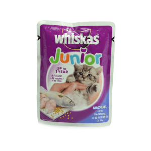 WHISKAS JUNIOR POUCH MACKEREL 85 GR