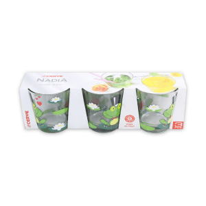 CERVE SET GELAS TUMBLER FROGS IN LOVE 250 ML 3 PCS