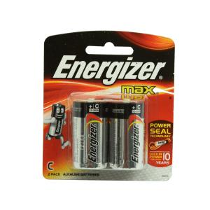 ENERGIZER BATERAI ALKALINE UKURAN C 2 PCS