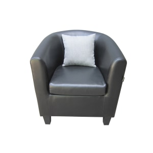 LEXXY SOFA TUB CHAIR - HITAM/ ABU ABU