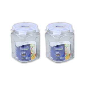 GLASSLOCK SET CANISTER 2 LTR -  2 PCS