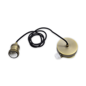KRISBOW FITTING LAMPU GANTUNG VINTAGE E27 – GOLD