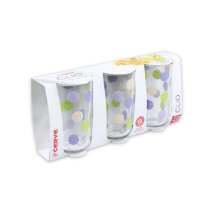 SET 3 PCS GELAS TUMBLER CLIO PICCADILLY VIOLA 320 ML