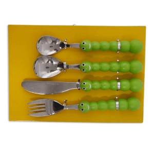 KITCHEN CRAFT SET PERALATAN MAKAN 4 PCS - HIJAU
