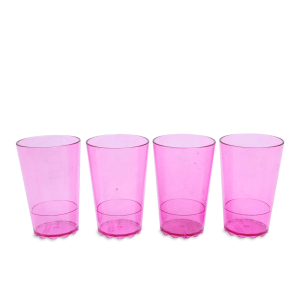 ROSTI SET GELAS 200 ML 4 PCS  - PINK