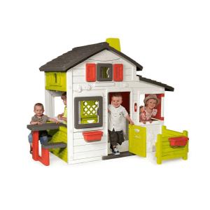 SMOBY FRIENDS HOUSE - HIJAU/PUTIH