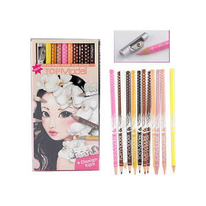 TOP MODEL SET PENSIL WARNA SERI PRINCESS 12 PCS