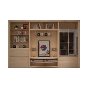 HERA WALL UNIT - PUTIH OAK
