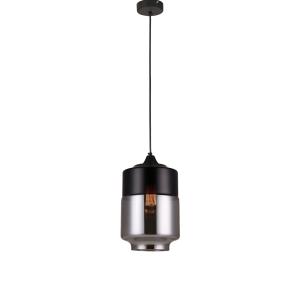 LAMPU GANTUNG HIAS FULTON 18X100 CM - HITAM