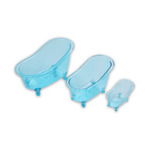 SET TEMPAT PENYIMPANAN MINI BATHTUB 3 PCS – BIRU