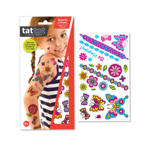 TATTOT STIKER TATO TEMPORARY - BUTTERFLY & FLOWER