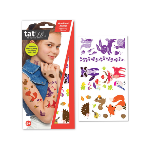 TATTOT STIKER TATO TEMPORARY - WOODLAND ANIMAL