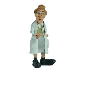 MINIATUR LADY DOCTOR 7X16CM