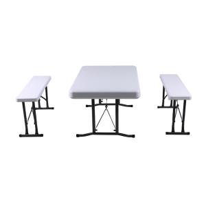 KRISBOW SET MEJA DAN BANGKU LIPAT 3 PCS - PUTIH