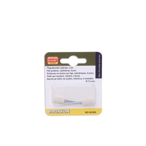 PROXXON FELT POLISHER SILINDER 2 PCS - PUTIH