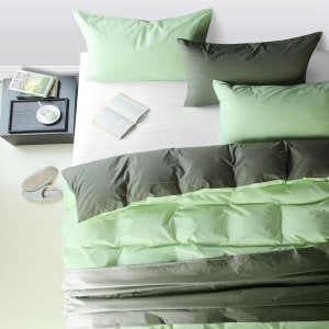 LINOTELA TWO TONE DUVET COVER KATUN SINGLE – FERN GREY