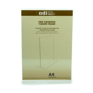 ODI SIGN HOLDER ACRYLIC VERTIKAL T A4