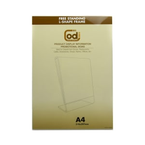 ODI SIGN HOLDER ACRYLIC VERTIKAL L A4