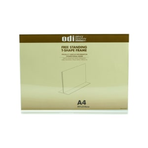 ODI SIGN HOLDER ACRYLIC HORIZONTAL T A4