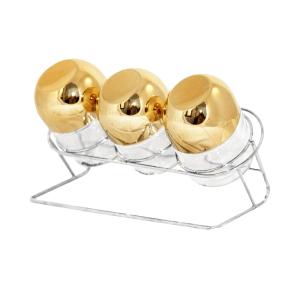 OXONE TOPLES KACA KAPSUL DENGAN RAK OX-353R - GOLD