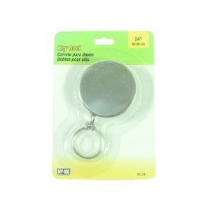 RING KEY REEL CLIP ON 61 CM - SILVER