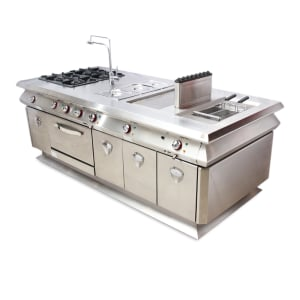 KRISCHEF CENTRAL WORKING ISLAND - SILVER
