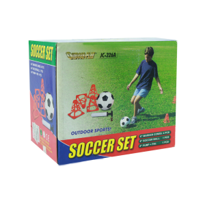 OUTDOORPLAY 1 SET PERALATAN SEPAK BOLA - PUTIH