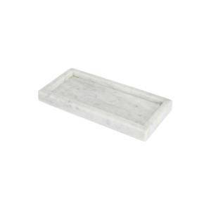 GLERRY HOME DECOR TRAY WHITE MOONSTONE MARBLE 25X10CM