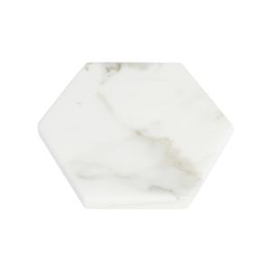 GLERRY HOME DECOR HEXAGON WHITE MOONSTONE MARBLE DIAMETER 20CM