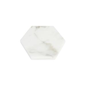 GLERRY HOME DECOR HEXAGON WHITE MOONSTONE MARBLE DIAMETER 12CM