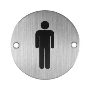 K-LOCK SIGN PLATE BULAT MEN