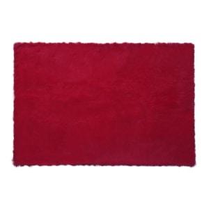 GLERRY HOME DECOR KARPET SQUARE RED CHILLI FUR RUG 200X150CM