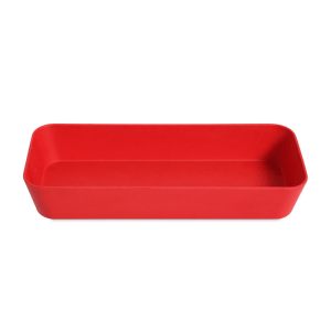 WENKO KOTAK SHELF SLIM NATURAL 24X10X4CM - MERAH