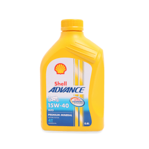 SHELL OLI MESIN MOTOR ADVANCE AX5 15W-40 800 ML - KUNING