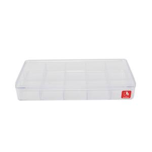 BOXBOX KOTAK PENYIMPANAN DENGAN 15 KOMPARTEMEN - TRANSPARAN