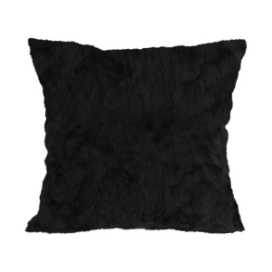 GLERRY HOME DECOR BANTAL SOFA BLACK MINI FUR CUSHION 40X40 CM