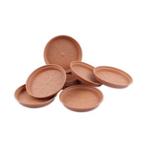 ELHO GREEN BASIC SAUCER ALAS POT 10 CM - COKELAT