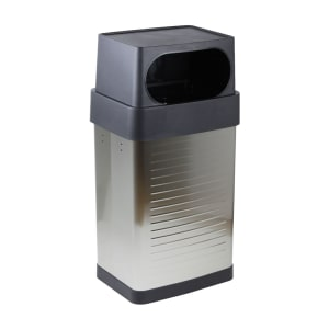 SEVILLE TEMPAT SAMPAH STAINLESS STEEL OUTDOOR 64L - SILVER
