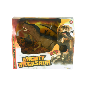 DRAGON-I MIGHTY MEGASAUR T-REX - COKELAT