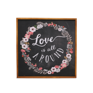 HIASAN DINDING VINTAGE LOVE IS ALL AROUND 46X46 CM