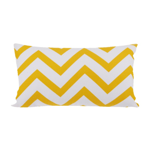 GLERRY HOME DECOR BANTAL SOFA YELLOW CHEVRON 50X30CM