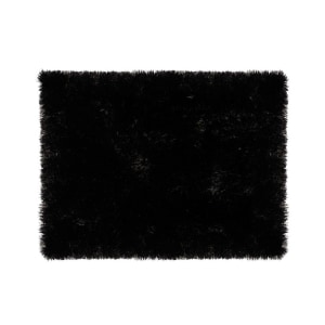GLERRY HOME DECOR KARPET BULU SQUARE BLACK 300X150 CM